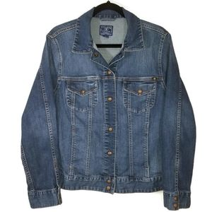 Lucky Adelaide blue jean jacket 2X